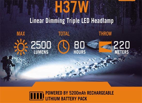 Batería recargable H37-W